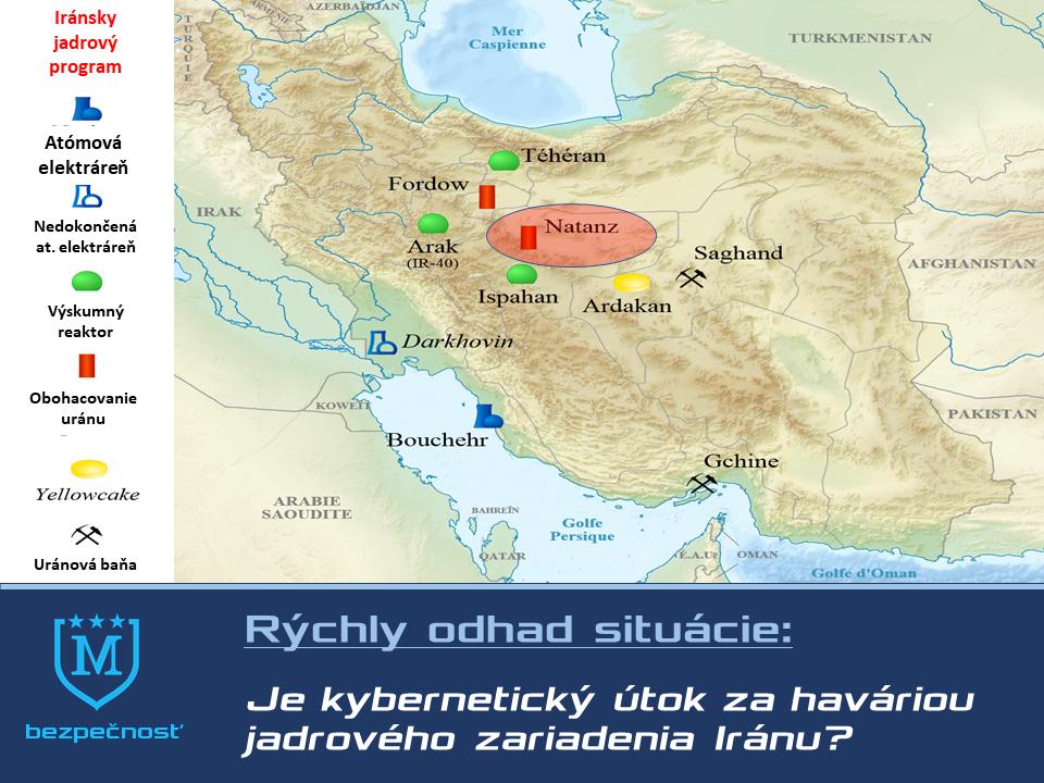 Rozmiestnenie iránskych jadrových zariadení