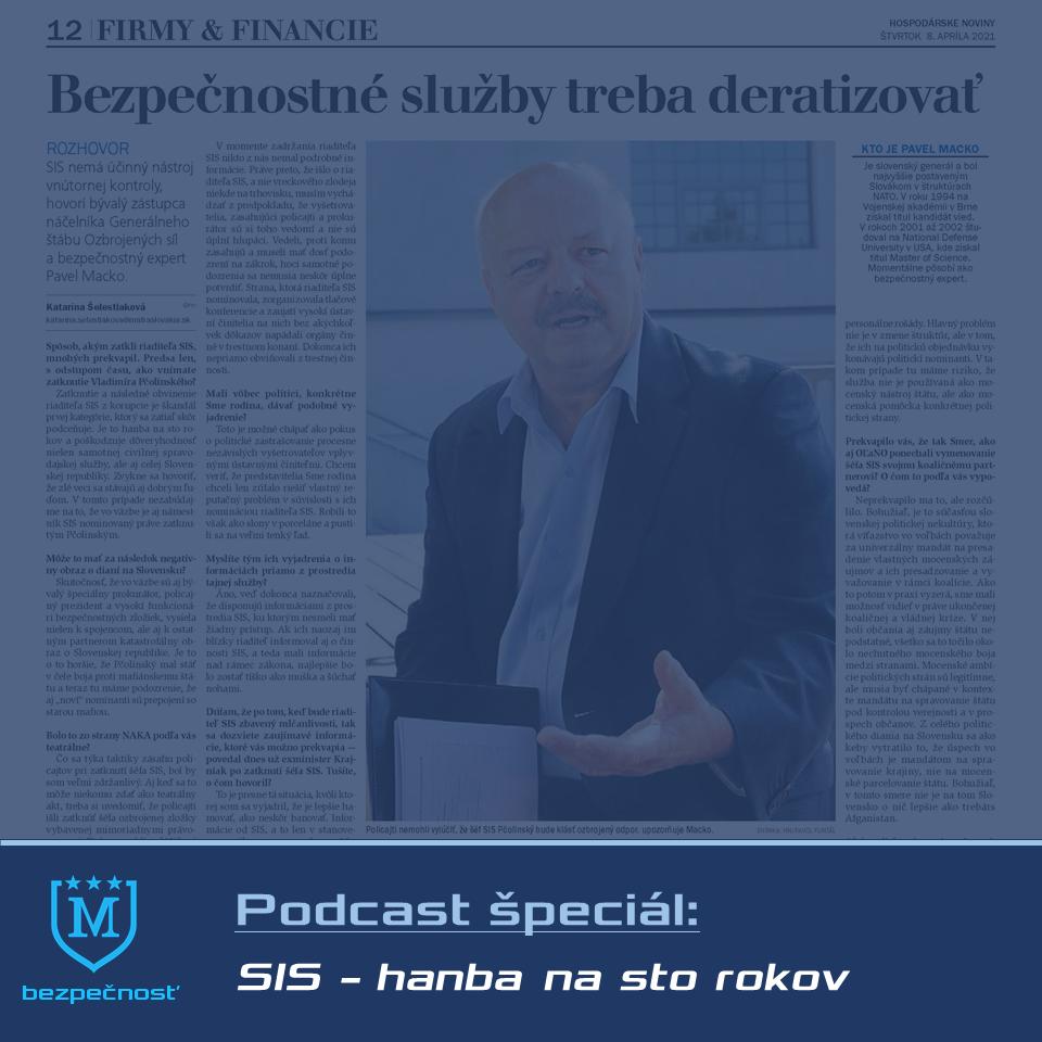 Rozhovor o SIS pre Hospodárske noviny